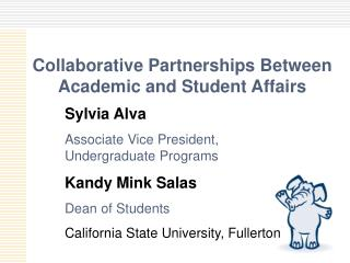 Collaborative Partnerships Between Academic and Student Affairs