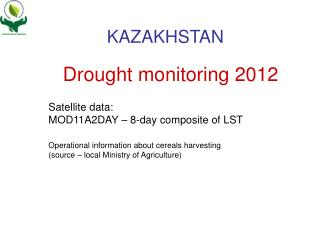 Drought monitoring 2012