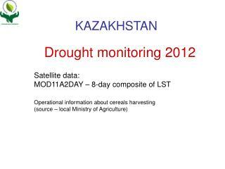 Drought monitoring 2012