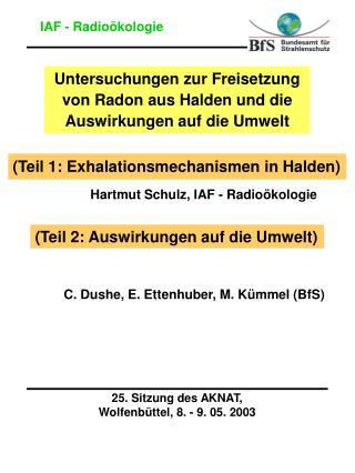 25. Sitzung des AKNAT,  Wolfenbüttel, 8. - 9. 05. 2003