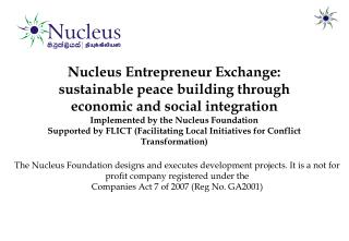 Nucleus Entrepreneur Exchange: sustainable peace building through economic and social integration