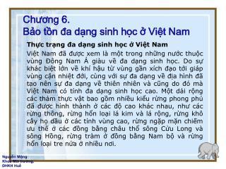 Chuong 6. Bo tn da dng sinh hc  Vit Nam