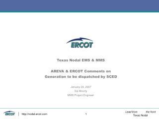 AREVA  (EMS Vendor ) Comments