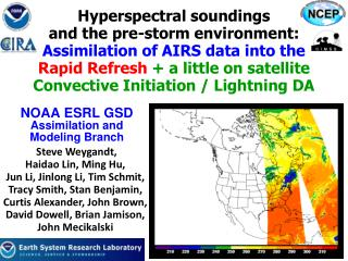 NOAA ESRL GSD Assimilation and  Modeling Branch