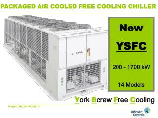 PACKAGED AIR COOLED FREE COOLING CHILLER