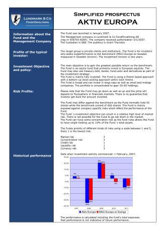 Simplified prospectus AKTIV EUROPA
