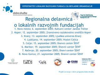 Regionalna delavnica  o lokalnih razvojnih fundacijah