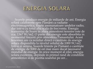 ENERGIA SOLAR Ă