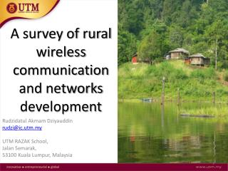 A survey of rural wireless communication  and networks development