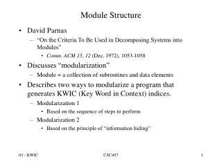 Module Structure