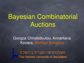 Bayesian Combinatorial Auctions
