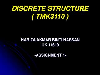 DISCRETE STRUCTURE ( TMK3110 )