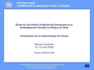 Étude sur les Petites et Moyennes Entreprises et le développement durable en Afrique du Nord