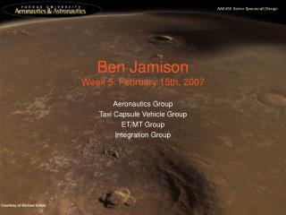 Ben Jamison Week 5: February 15th, 2007