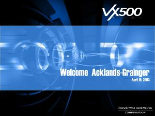 Welcome  Acklands-Grainger April 16, 2003