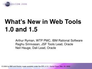 What's New in Web Tools 1.0 and 1.5