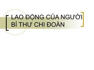 LAO  NG CA NGUI  B  THU CHI  O N