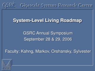 System-Level Living Roadmap