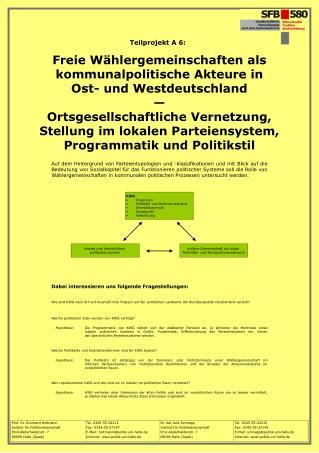Freie Wählergemeinschaften als kommunalpolitische Akteure in  Ost- und Westdeutschland —