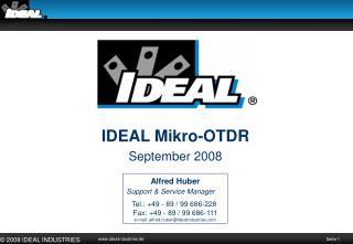 IDEAL Mikro-OTDR September 2008