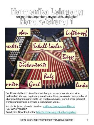 Harmonika Lehrgang Handreichung 1