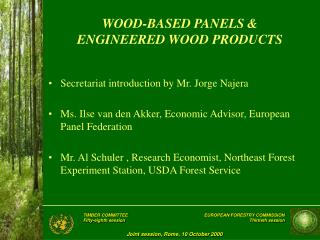 WOOD-BASED PANELS &  ENGINEERED WOOD PRODUCTS