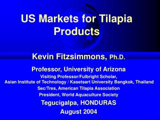 US Markets for Tilapia Products