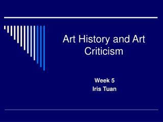 Art History and Art Criticism