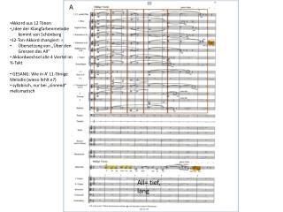 """Akkord aus 12 Tönen """"Idee der Klangfarbenmelodie kommt von Schönberg 12-Ton-Akkord changiert: ="""