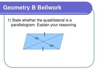 Geometry B Bellwork