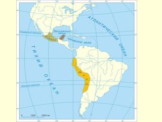 Территория, которую занимала цивилизация майя.