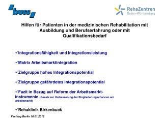 Hilfen f r Patienten in der medizinischen Rehabilitation mit Ausbildung und Berufserfahrung oder mit Qualifikationsbedar