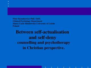 Professional psychological help