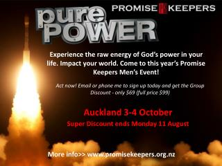 Auckland 3-4 October Super  Discount ends  Monday  11 August
