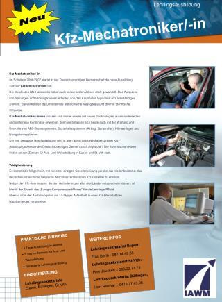 Kfz-Mechatroniker /-in