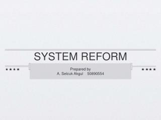 SYSTEM REFORM