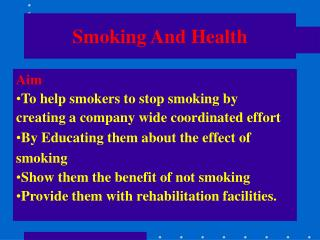 Smoking And Health