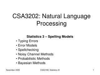 CSA3202: Natural Language Processing