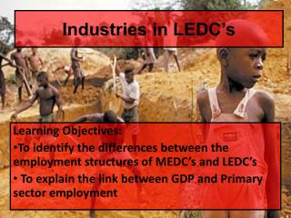 Industries in LEDC�s