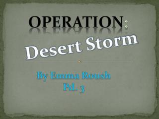 Operation :