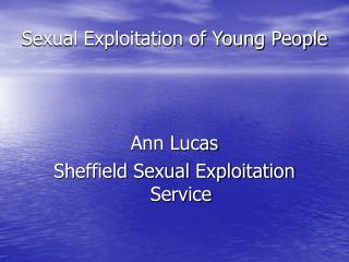 Sexual Exploitation of Young People