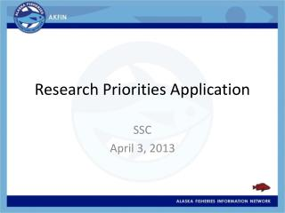 Research Priorities Application
