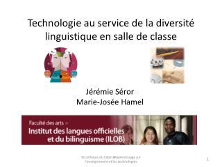 Technologie au service de la diversité linguistique en salle de classe