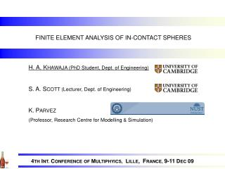 FINITE ELEMENT ANALYSIS OF IN-CONTACT SPHERES