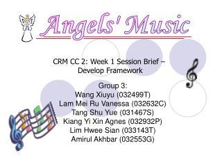 Group 3: Wang Xiuyu (032499T) Lam Mei Ru Vanessa (032632C) Tang Shu Yue (031467S)