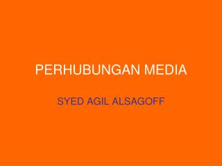PERHUBUNGAN MEDIA
