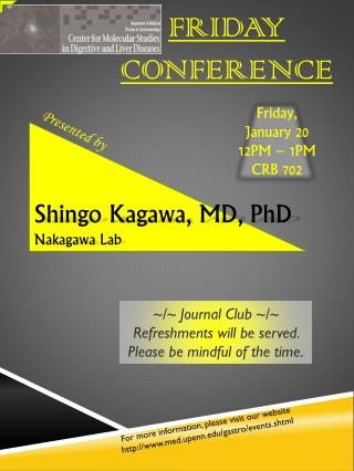 FRIDAY CONFERENCE