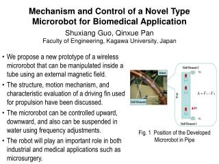 Mechanism and Control of a Novel Type Microrobot for Biomedical Application