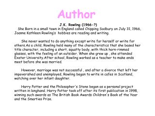 J.K. Rowling (1966-?)
