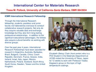 ICMR International Research Fellowship :